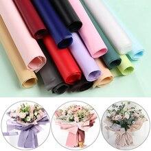 5 шт корейский Стиль полупрозрачная водонепроницаемая бумага обертывание пинг цветок обертывание бумага Рождественская упаковка для свадебного подарка бумага