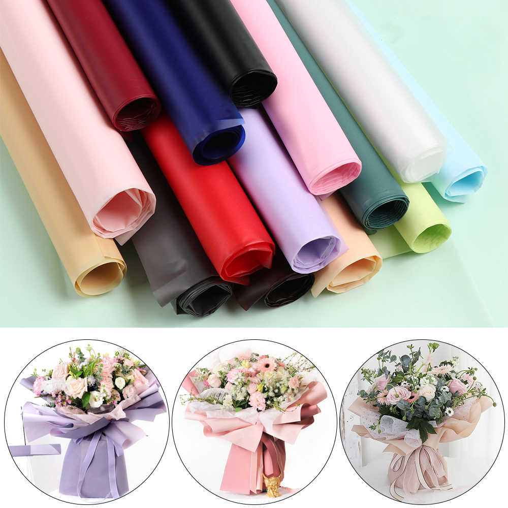 5PCS Korean Style Translucent Waterproof Paper Wrapping Flower Wrap Paper Christmas Wedding Gift Wrapping Paper
