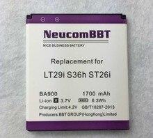 BA900 Battery for Sony Xperia TX/J/E1/L  LT29i ST26i S36h MST26i/L C2104  C1904 C2105 ST26a Phone NeucomBBT 1700mAh BA-900