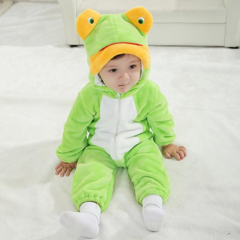 RL Newborn Lovely Animal Style Frog Infant Baby Romper Spring Baby Girl Jumpsuit 2017 Autumn Cotton Toddler Baby Clothes RL-2 baby clothing summer infant newborn baby romper short sleeve girl boys jumpsuit new born baby clothes