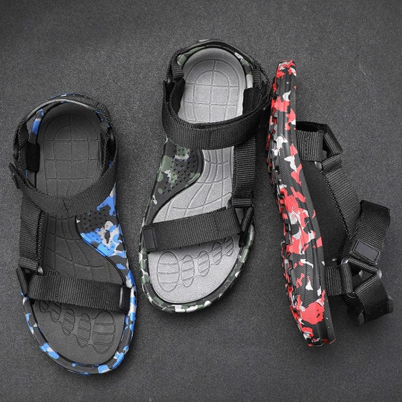 Men's Roman Sandals Shoes Gladiators Casual Off Breathable Men's Sandals Comfortable Summer Light Sandals Men Big Size 48 X1-30(China)