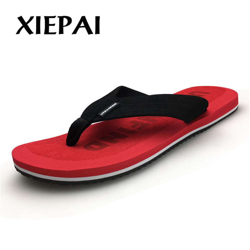 2019  Beach / House Slippers Men Fashion Flip Flops Size 41 46 Designer Man Casual Summer Shoes-in Flip Flops from Shoes