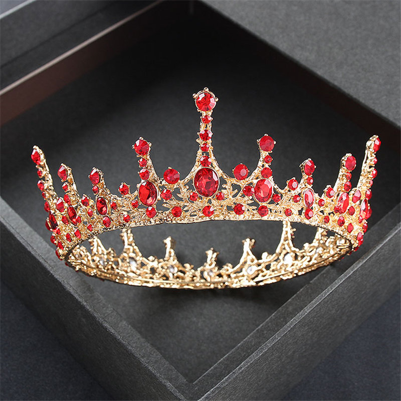 Gold Color wedding crown queen bridal Tiaras and Crowns Headband Prom dinner diadem Wedding Hair Accessories hair jewelry 2017 new pink gold silver king crowns handmade tiaras brides headband crystal bridal diadem queen crown wedding hair accessories