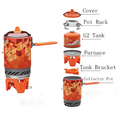 Outdoor Stove One Piece Camping Stove Collector Pot Camping Cooking Fire Maple FMS X2 600g 1.0L Gift Pot Rack Tank Bracket-in Outdoor Stoves from Sports & Entertainment    1