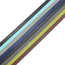 10mm Flat Leather Cord Stitching Thread PU Leather Cord For Bracelet Watchband DIY Jewelry Craft Black Blue Gray Green 10x2mm