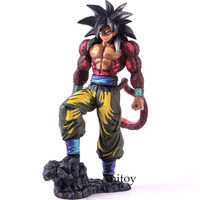 Dragon Ball Super Saiyan 4 Son Goku With Somersault Cloud Action Figure Limited Ver. PVC Collectible Model Toy 25.5cm