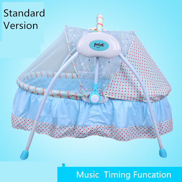 Electric babysing super light foldable baby bed/baby crib/easy carry/foldable bed/bassinet for newborn baby 0-6month 24 led music stand light 2 level change easy to carry foldable fl 9032