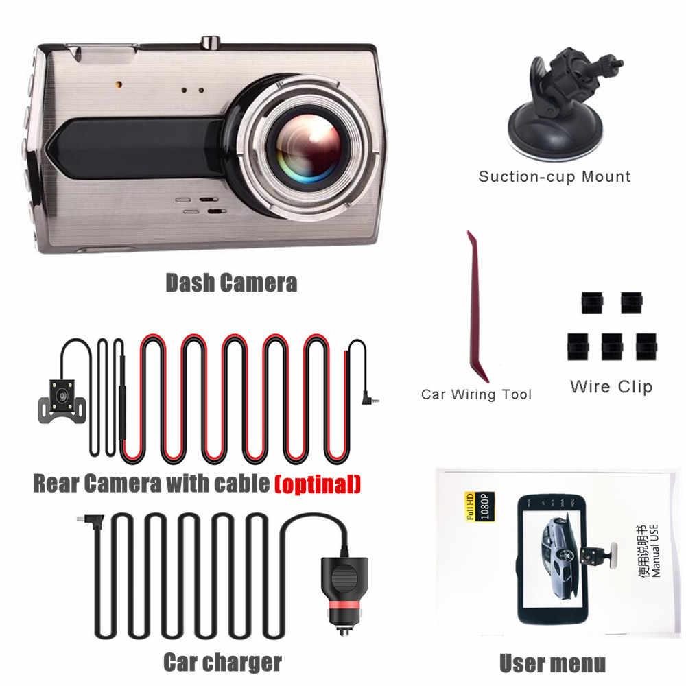 Dual Lens HD 1080P Car DVR Dash Cam Night Vision Camera Video Recorder G-sensor