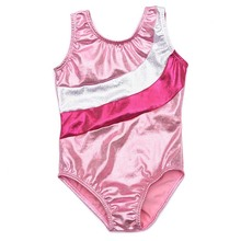 Pink White Sleeveless Gymnastics Leotards Girls Swimsuit Lycra Spandex Bodysuit Ballet Costumes For Kids