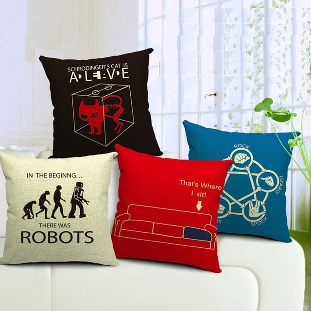 The Bang Theory Cushion Cover This Is Where I Sit Pillow Case Sofa