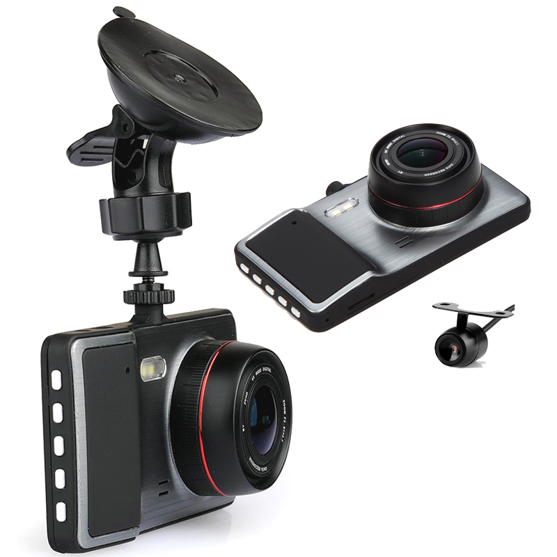 Dual Camera Full HD Car DVR S8 Black Box + Rear Parking Camera - 1080P HD, G-Sensor, Loop Recording, Motion Detection IPS Screen plusobd car recorder rearview mirror camera hd dvr for bmw x1 e90 e91 e87 e84 car black box 1080p with g sensor loop recording