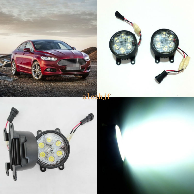 July King 18W 6LEDs H11 LED Fog Lamp Assembly Case for Ford Mondeo Fusion 2013~ON, 6500K 1260LM LED Daytime Running Lights ноутбук dell inspiron 3567