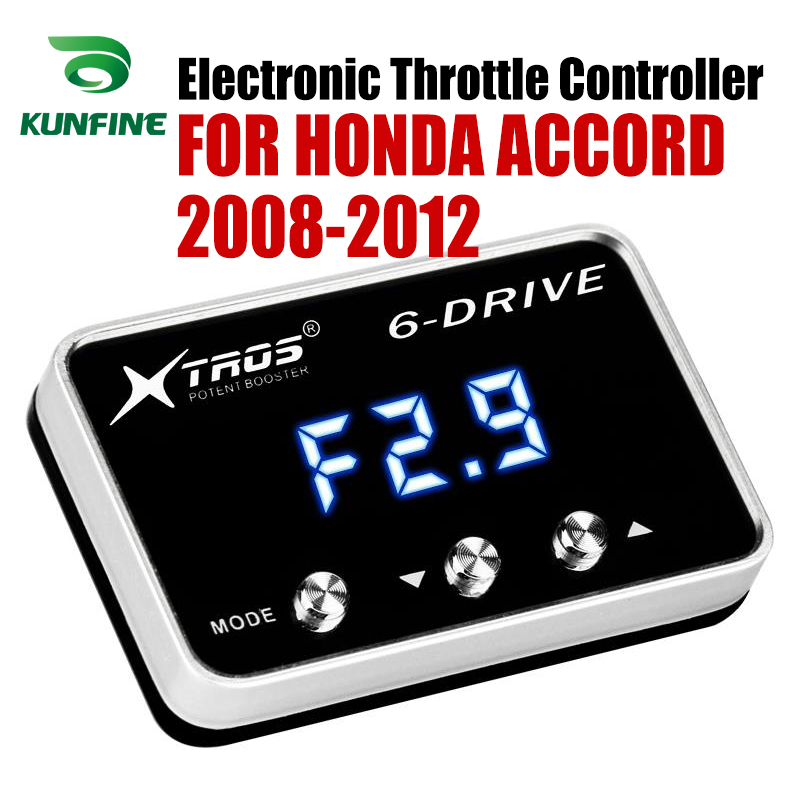 Car Electronic Throttle Controller Racing Accelerator Potent Booster For HONDA ACCORD 2008 2012 Tuning Parts Accessory