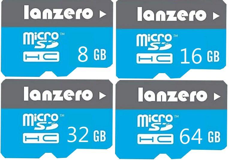 lanzero Micro SD Card 8GB/16GB/32GB/64GB Class 10 Memory Card Flash Memory Microsd for Xiaomi Samsung Smartphone etc