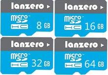 Lanzero cartão micro sd 8 gb/16 gb/32 gb/64 gb classe 10 cartão de memória cartão de memória flash microsd para xiaomi samsung smartphones etc