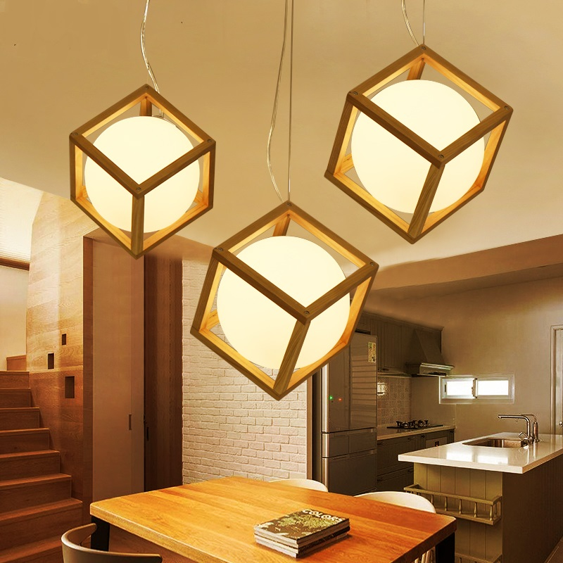 The Japanese wooden Pendant Lights Restaurant led simple wooden logs wood lamp creative tatami restaurant lamps LU71112 YM japanese style tatami floor lamp aisle lights entrance corridor lights wood ceiling fixtures tatami wood ceiling aisle promotion