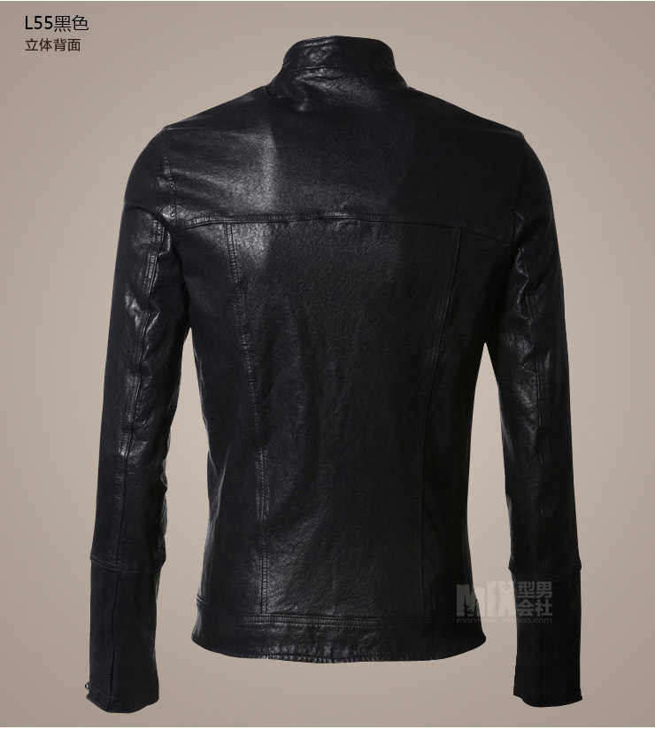 689f6b71a59dc ... brand Men Leather Jacket pilot Casual sheepskin genuine Leather Coat  Male Short Design Men Autumn Leather ...
