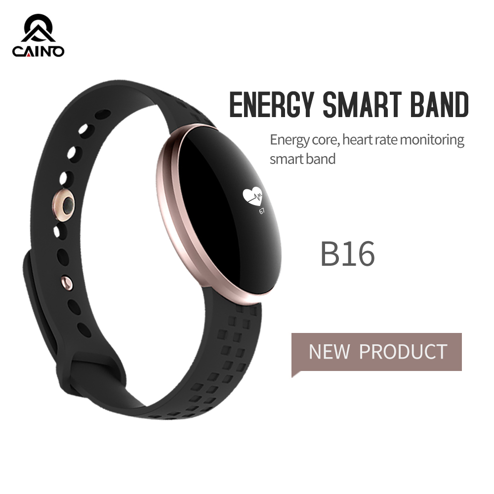 CAINO Heart Rate Monitor Smart watch  Bluetooth Touch Screen Smart Bracelet  Sleep Tracker Fitness Waterproof Sports watches B16 sports fitness tracker smart watch bracelet i7 bluetooth 4 0 wristband waterproof health heart rate monitor