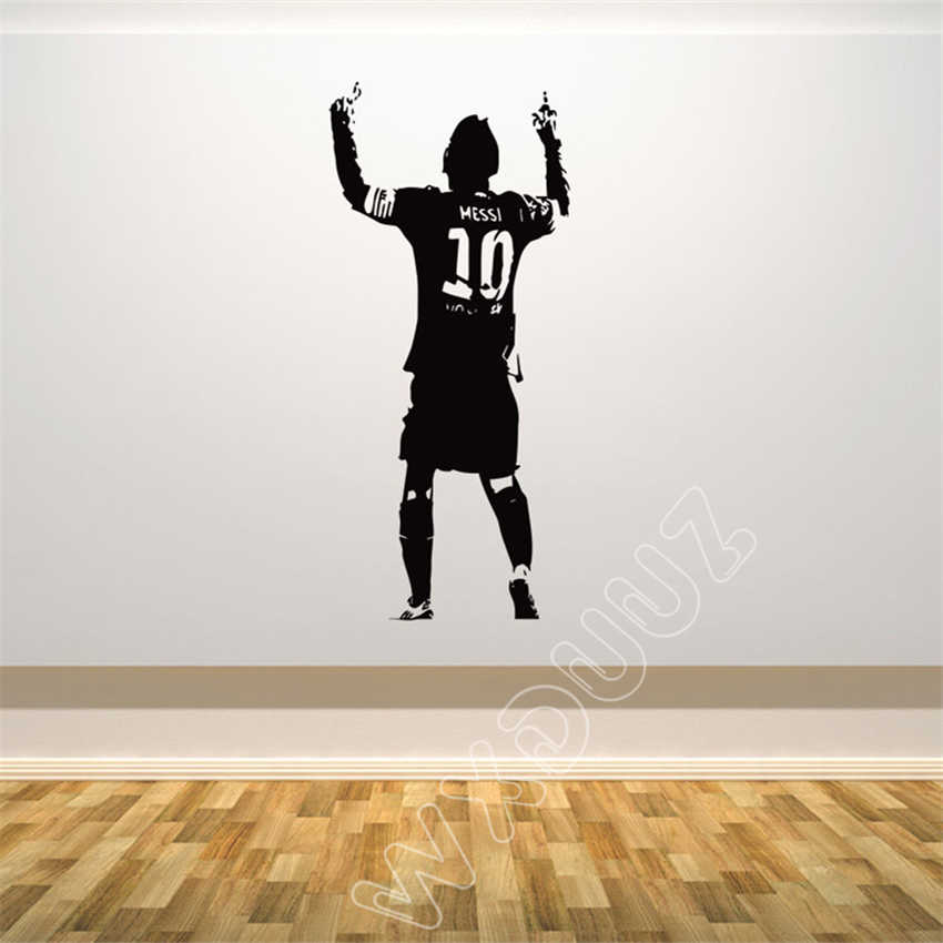 WXDUUZ Lionel Messi Football Player kids nursery decal quote Home Decor Vinyl Wall Sticker bedroom Poster Decor B52