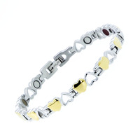 Fashion Woman Heart Bracelet 316L Stainless Steel Health Care Elements Magnetic Hand Made Bracelet Gift For
