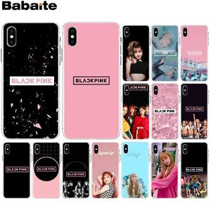 Babaite BLACKPINK LISA Kpop Newly Arrived Transparent Cell Phone Case for Apple iPhone 8 7 6 6S Plus X XS MAX 5 5S SE XR Cover