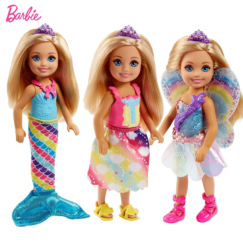 Original Barbie Dreamtopia Fairytale Mini Baby American Fashion Dolls Travel Cute Kids Toys for Girls Birthday Children Gifts