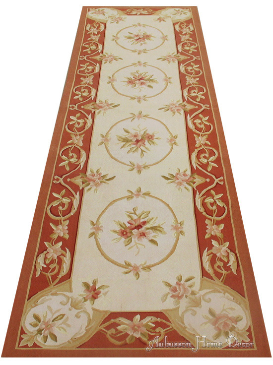 2 5x8 Hand Woven Aubusson Area Rug Antique French Pastel