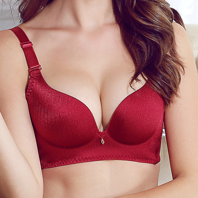 Women Seamless Push Up Bra 3/4 Cup Backless Strapless Push Up Bra Women Push Up Bra B Cup Plus Size Sexy Double Push Up Bras
