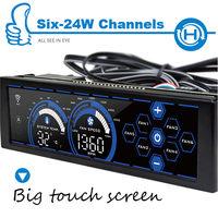 ALSEYE A 100H B Front Panel Controller WiFi 6Channel Fan Speed Controller 5 25 Touch Sensor