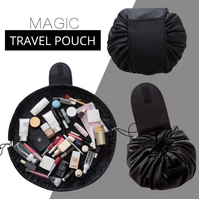 d994a87760d2 US $1.99 30% OFF|Women Drawstring Cosmetic Bag Fashion Travel Makeup Bag  Organizer Make Up Case Storage Pouch Toiletry Beauty Kit Box Wash Bag-in ...
