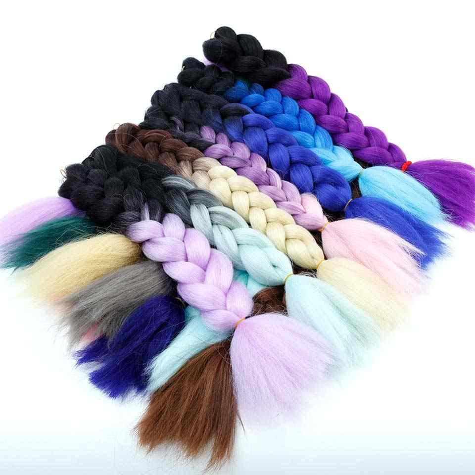 """HiDoLA 24 """"Xpressions плетение волос 100 г огромные плетеные косы набор кос косы Сияющие волосы для наращивания"""