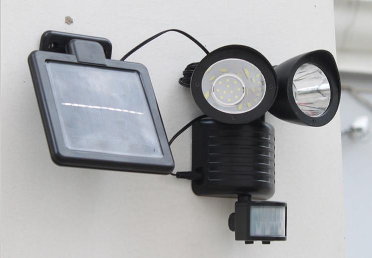 Licht En Bewegingssensor : Nieuwe zwarte solar 22 led veiligheid verlichting schuur garage