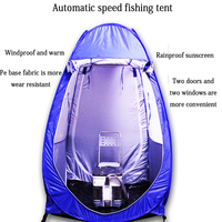1800G Fishing tent Professional camping tent 4 Season 1 2 Person tents Outdoor 2019 automatic Camping Manual winter tents