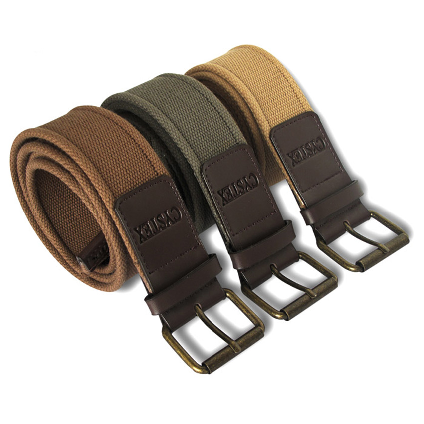 Brand Canvas Belt Men Pu Leather Designer High Quality Mens Fashion