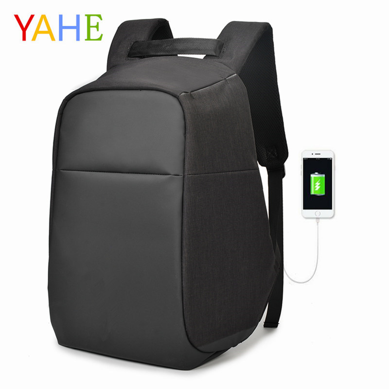 YaHe USB charging Men 15inch Laptop Backpacks For Teenager Fashion Business Male Mochila Leisure Travel Backpack Anti Thief 2018 multifunction usb charging men 15inch laptop backpacks for teenager fashion male mochila leisure travel backpack anti thief