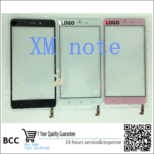 Original New Touch Screen For xiaomi note Mi note Front Touch Panel Outer Glass Digitizer Replacement Parts Test ok,+tracking