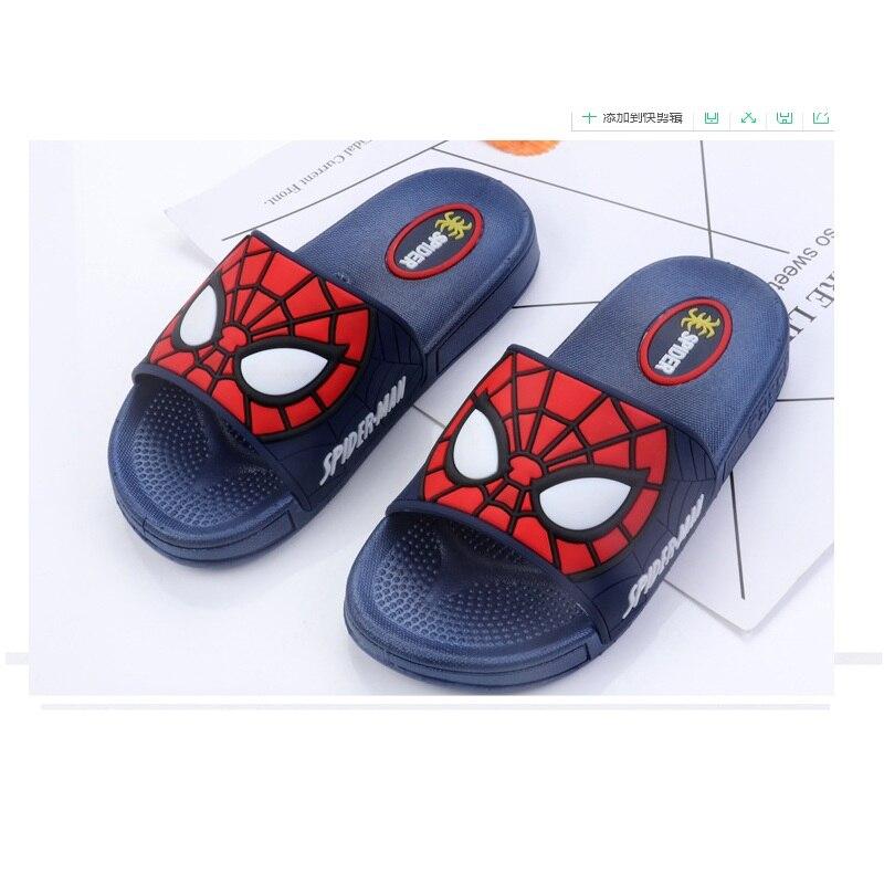 NEW Fashion  Children Sandals H Spider-Man Slippers Kids Boys Slippers Slides Outdoor Indoor Beach Shoes