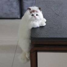 Simulation Cat Animal Model Decoration Home TV Hanging Crafts Plush Toy Doll Gift стоимость