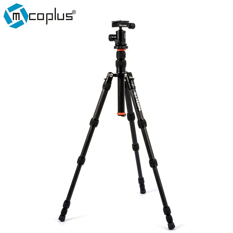 Mcoplus Triopo GT-2205 Camera Tripod Professional Flexible Portable Carbon Fiber +N-1 Ball Head for Canon Nikon Sony DSLR Camera triopo nb 1s professional camera ball head