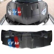 CF комплект настоящая углеродная заглушка из волокна капюшон M Стиль для Lamborghini Aventador LP700 720 750 автомобильный Стайлинг