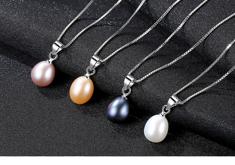 S925 sterling silver necklace melon hang buckle sticky zircon freshwater pearl necklace female accessories LB43
