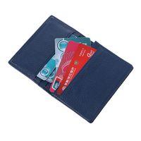 Men Women Luxury Fashion Genuine Leather Business ID Credit Card Wallet Holder Pocket Case Organizer