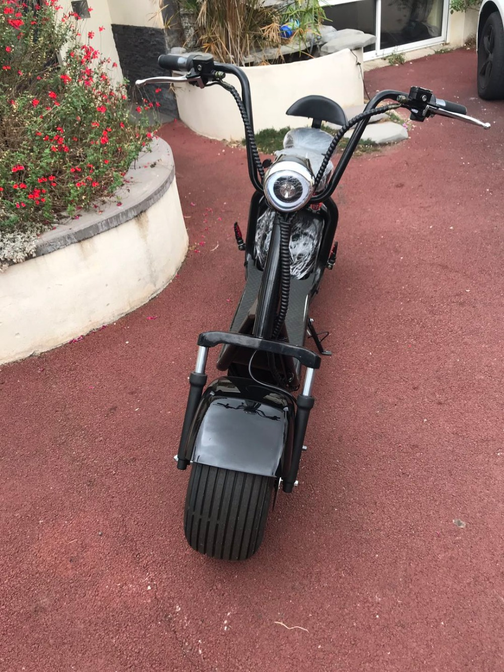 Big wheel electric scooter two wheel 1000w motor e for Big wheel motor scooter