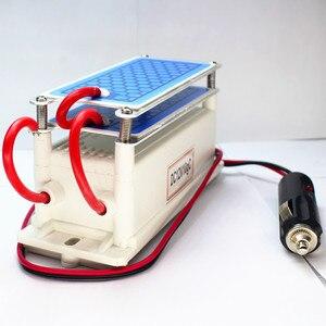 Image 4 - Kevinleo אוזון גנרטור רכב 10g 12V ארוך האחרון אוויר נקי נייד קרמיקה צלחת אוויר מטהר אוויר מעקר רכב אוזון Ionizer