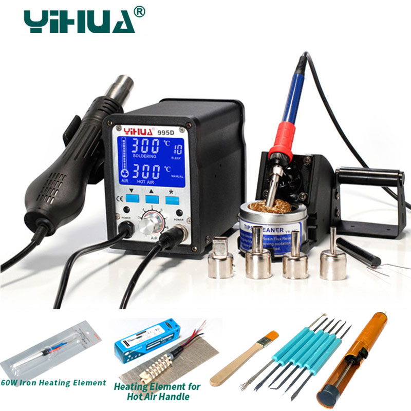 YIHUA 995D Bga Rework Soldering Station Hot Air Gun Soldering for Welding Repair Electric iron tool