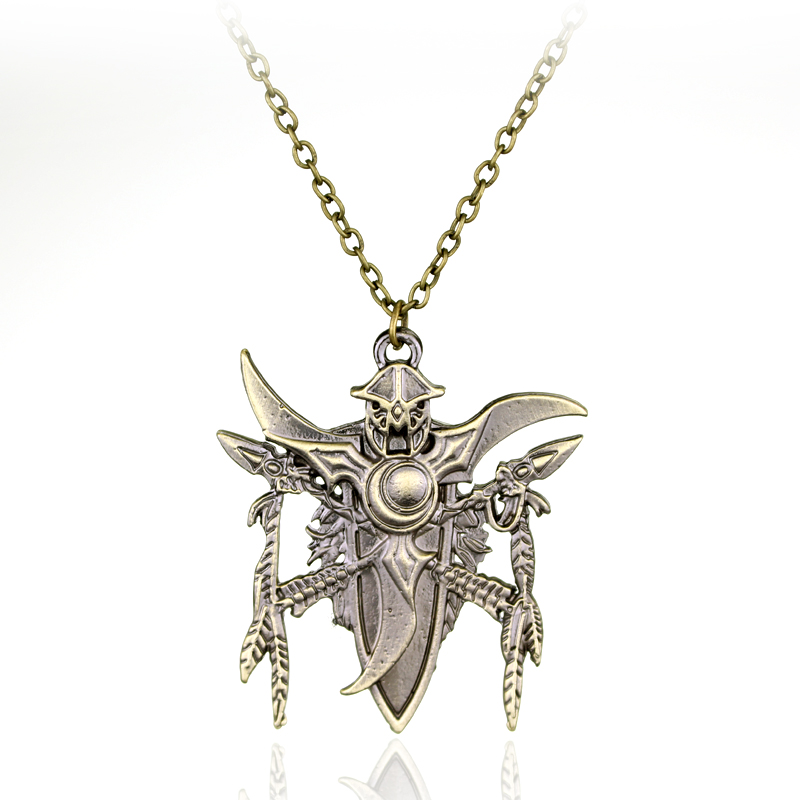 Fashion Sliver Game Jewelry Worlds of War Crafts Game Logo Necklace Worlds of Warcraft Pendants Necklace For Men Friends Gift