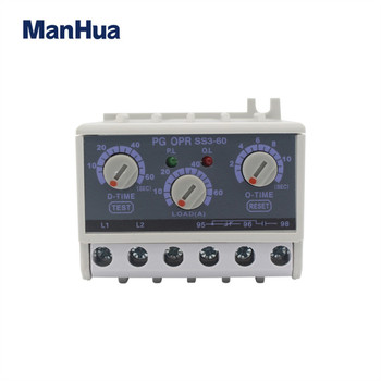 цена на PG06-SS3-440 5-60A Inductor Lectronic Overload Relay Phase Loss Protection Relay Independently Adjustable Starting Trip Delay