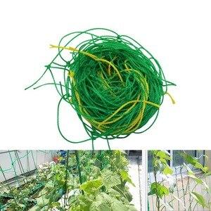 حديقة الأخضر النايلون تعريشة المعاوضة دعم تسلق الفول مصنع شبكات الدفيئة فاينز تنمو سياج أدوات زراعة 1 قطعة