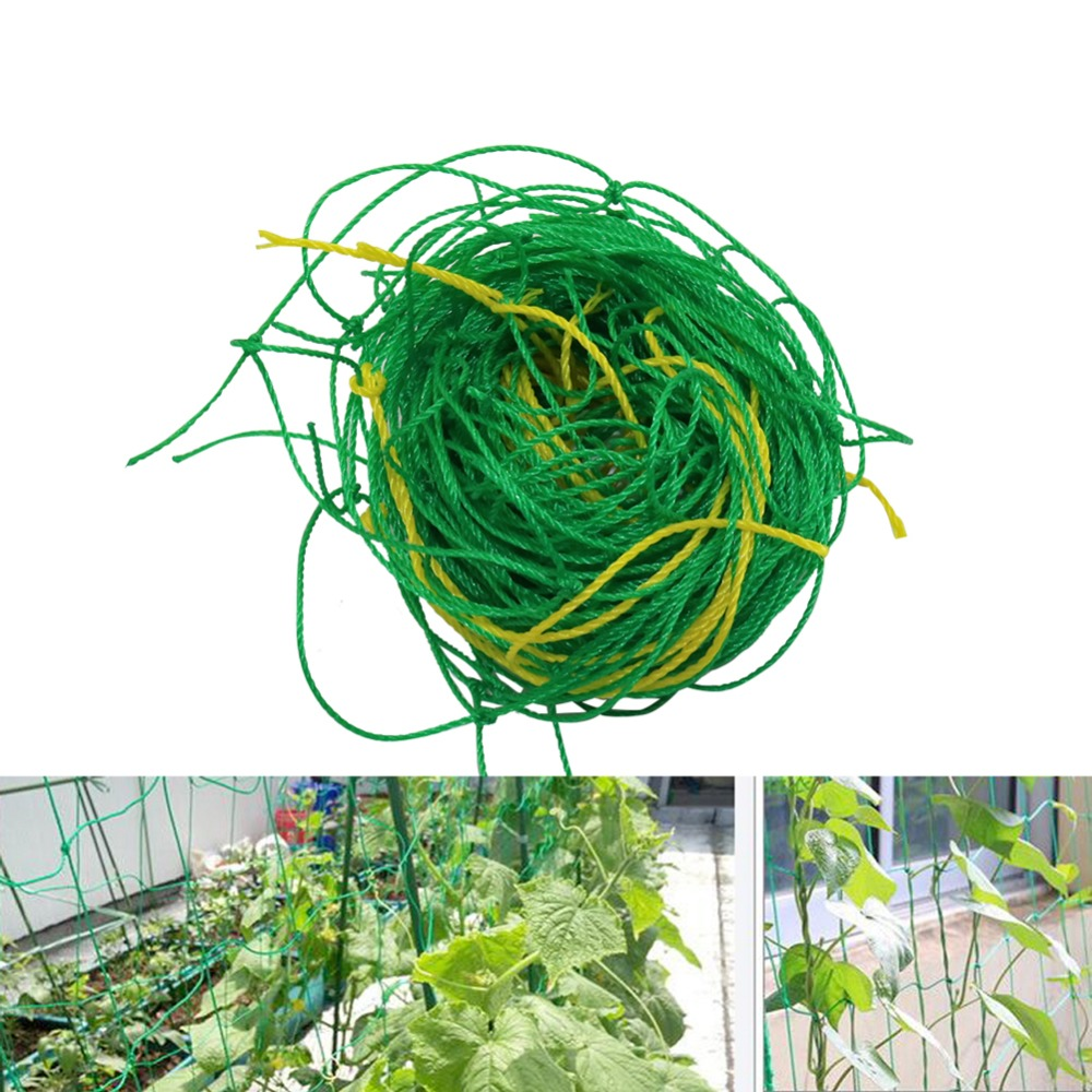 Garden Green Nylon Trellis Netting Support Climbing Bean Plant Nets Greenhouse Vines Grow Fence Agriculture Tools 1 Pcs