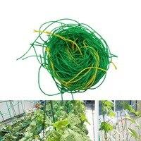 Red Verde de nailon para jardín soporte de red redes para plantas trepadoras de judías invernadero vides cultivo valla agricultura herramientas 1 Uds|Jaulas y soportes de plantas|Hogar y jardín -